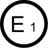 E1 - ECE standards mark