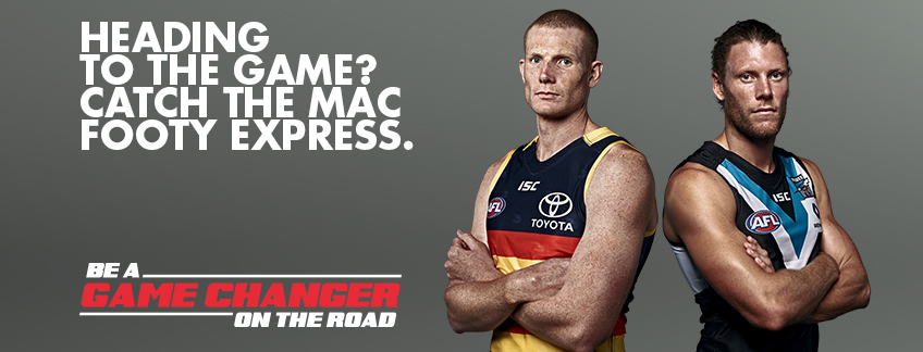 Heading to the game? Catch the MAC footy express?